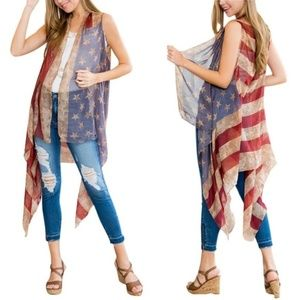 Women's American Flag Cardigan